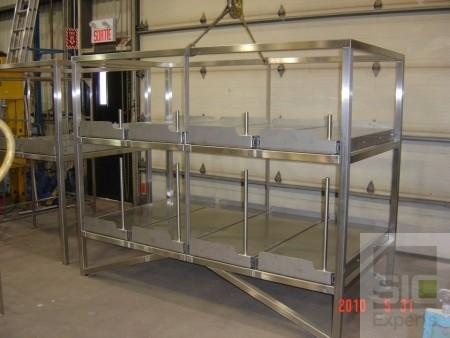 Étagères laboratoire acier inoxydable