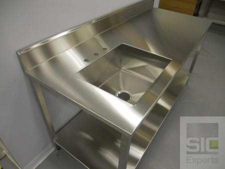 Évier laboratoire acier inoxydable SIC30822A