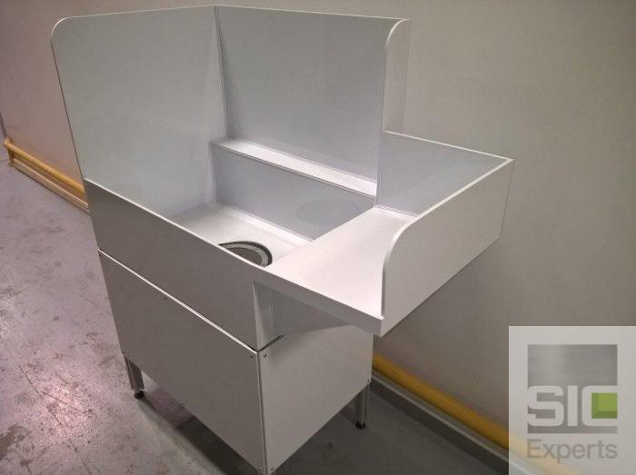 Évier industriel plastique PVC blanc SIC33768