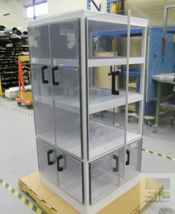 Armoire passe-objet plastique