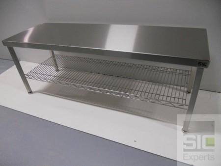 Banc inox avec rangement grillagé SIC32059