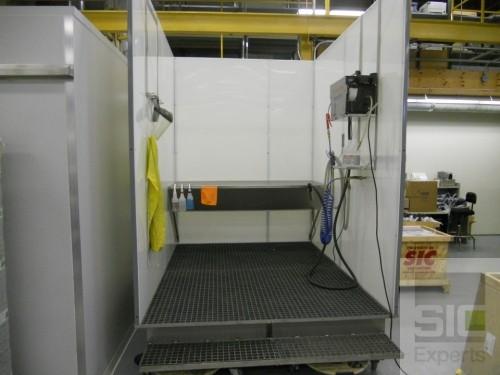 Cabine de lavage industrielle