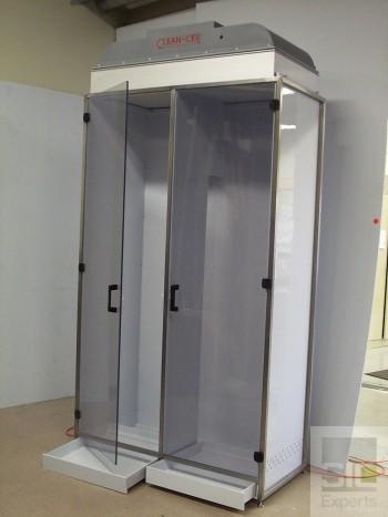 Cabinet plastique à flux laminaire