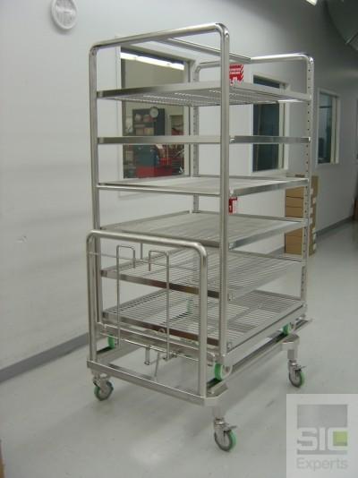Chariot inox pour autoclave SIC13722