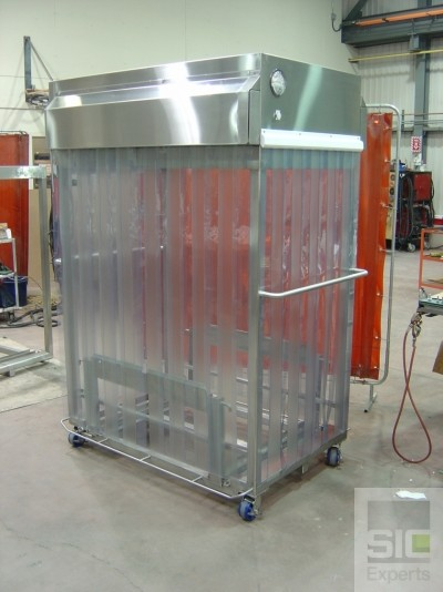 Chariot à flux laminaire salle blanche SIC19047