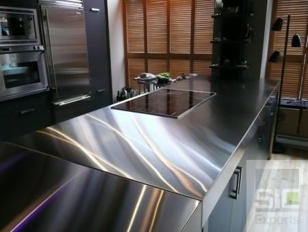 Comptoir cuisine acier inoxydable