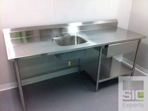Table comptoir laboratoire acier inox SIC28240