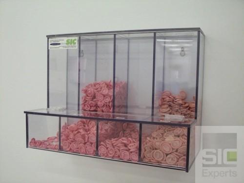 Distributeur de doigtiers en acrylique