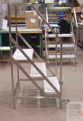 Escabeau escalier acier inoxydable