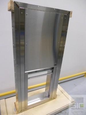 Fenetre passe plat acier inoxydable SIC32493