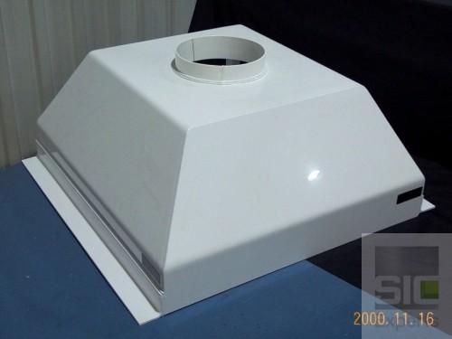 Hotte PVC blanc