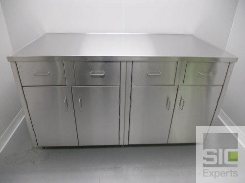 Mobilier laboratoire inox