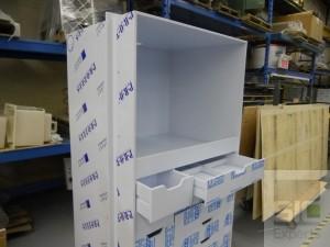 Mobilier de laboratoire en plastique