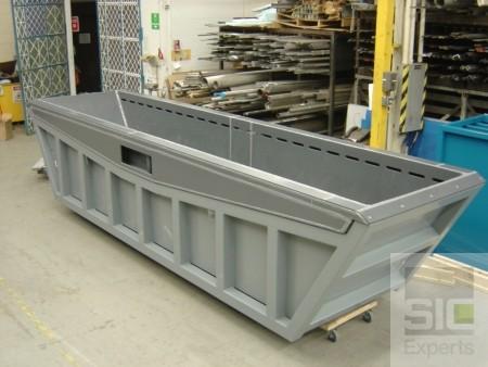 Réservoir d'acier intérieur en PVC