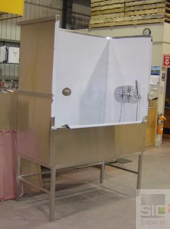 Station de lavage acier inoxydable