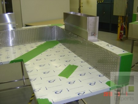Table aspirante inox