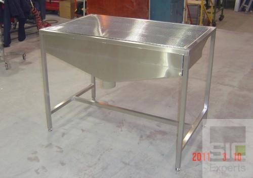 Table d'aspiration industrielle