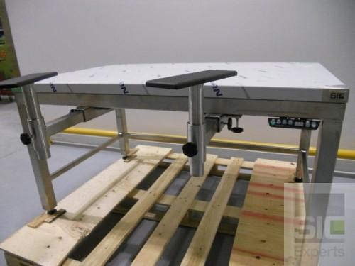 Table inox ergonomique reglable en hauteur SIC31928