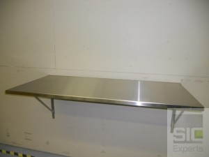 Table murale rabattable inox